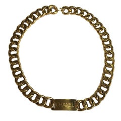 CHANEL Vintage Chain Belt in Gilded Metal
