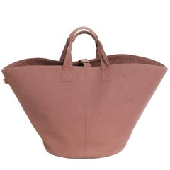 HERMES Large Tote Bag in Brown Canvas with Its Zipped Pouch