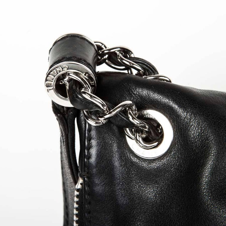 3158891f569165 CHANEL Black Quilted Soft Leather Messenger Flap Bag For Sale at 1stdibs