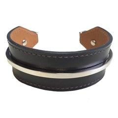 HERMES 'Binôme' Bracelet in Chocolate Box Leather