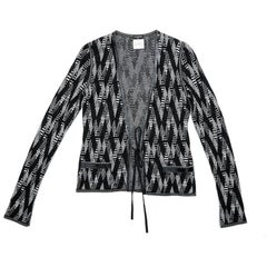 Chanel Cardigan in Black and White Cashmere Size 36FR