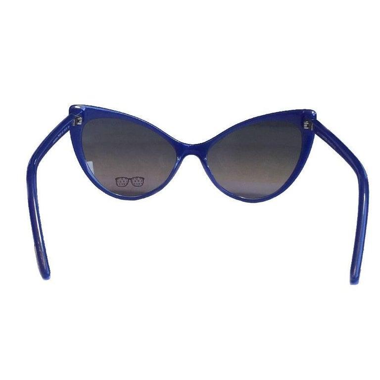 99743e5550 TOM FORD  Anastasia  Sunglasses in Blue Plastic In Good Condition For Sale  In Paris