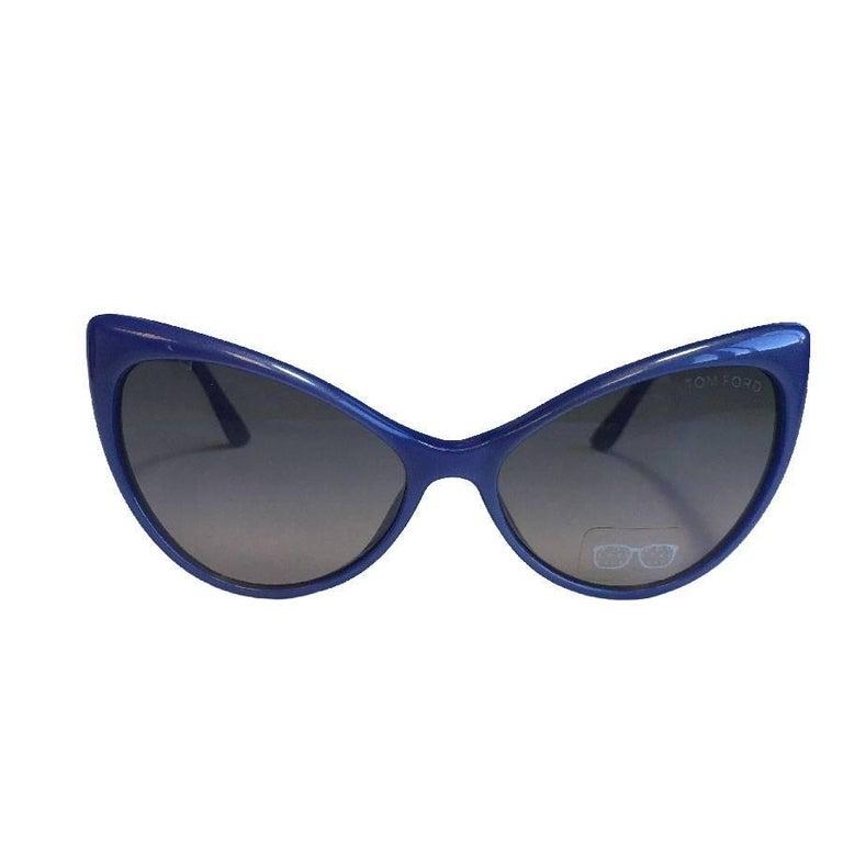 TOM FORD 'Anastasia' Sunglasses in Blue Plastic
