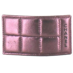 CHANEL Hair Clip in Quilted Purple Leather