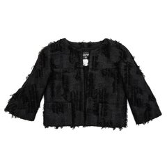 CHANEL Short Black Jacket Size 38FR