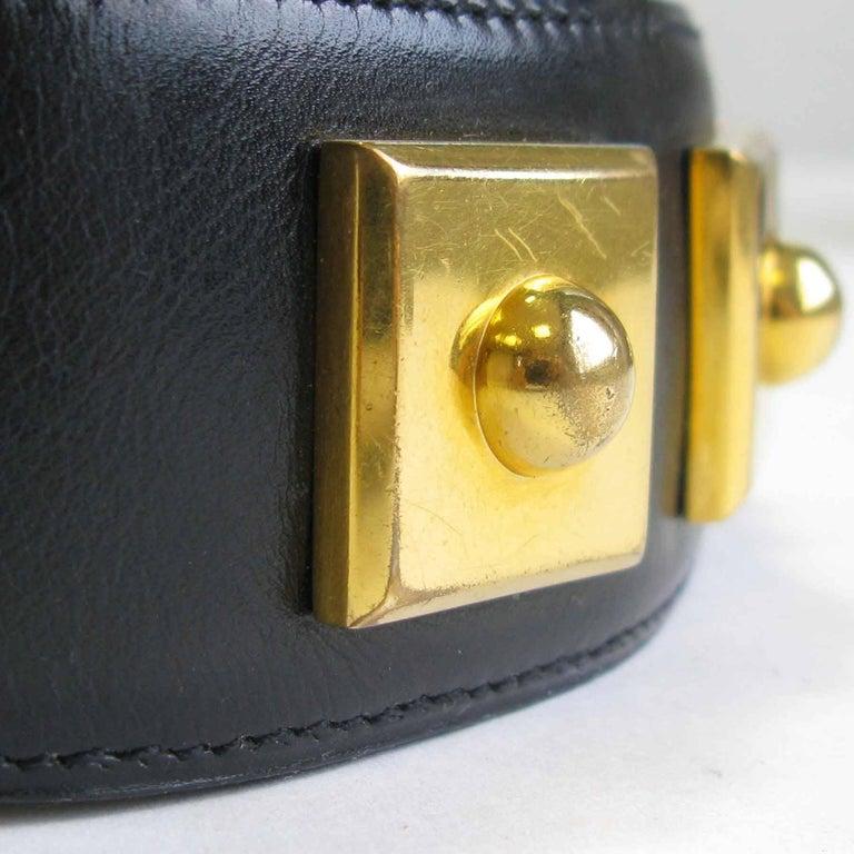 Women's HERMES Belt 'Piano' Model in Black Box Leather For Sale