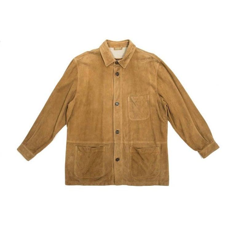 Franck Namani Gold Suede Shirt Jacket
