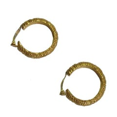YSL YVES SAINT LAURENT Vintage Hoop earrings in Gilded Metal