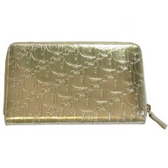 CHRISTIAN DIOR Wallet in Gilt Monogram Leather