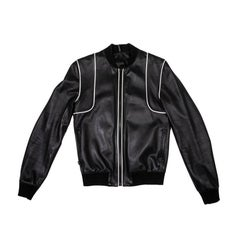 DIOR Jacket in Soft Black Lamb Leather Size 46FR