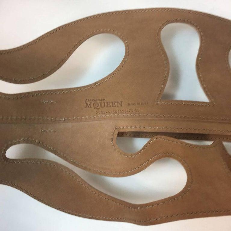 Brown Alexander McQueen Nude Leather Corset Belt  For Sale