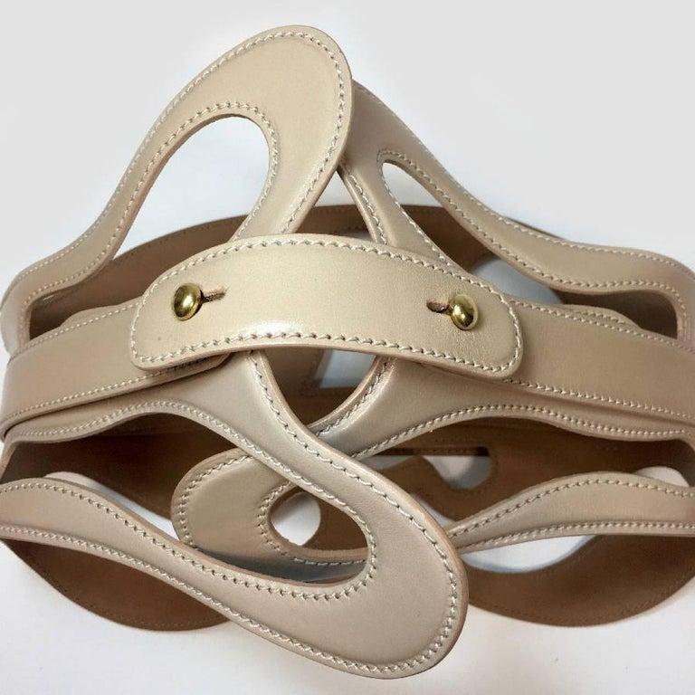 Alexander McQueen Nude Leather Corset Belt  In Good Condition For Sale In Paris, FR