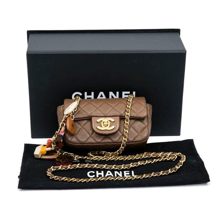 CHANEL Mini Bag in Light Brown Lamb Leather 10