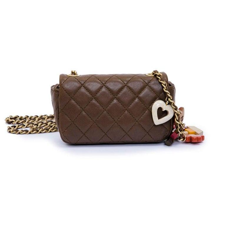 CHANEL Mini Bag in Light Brown Lamb Leather 1