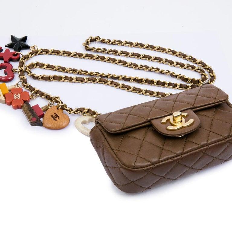 CHANEL Mini Bag in Light Brown Lamb Leather 3