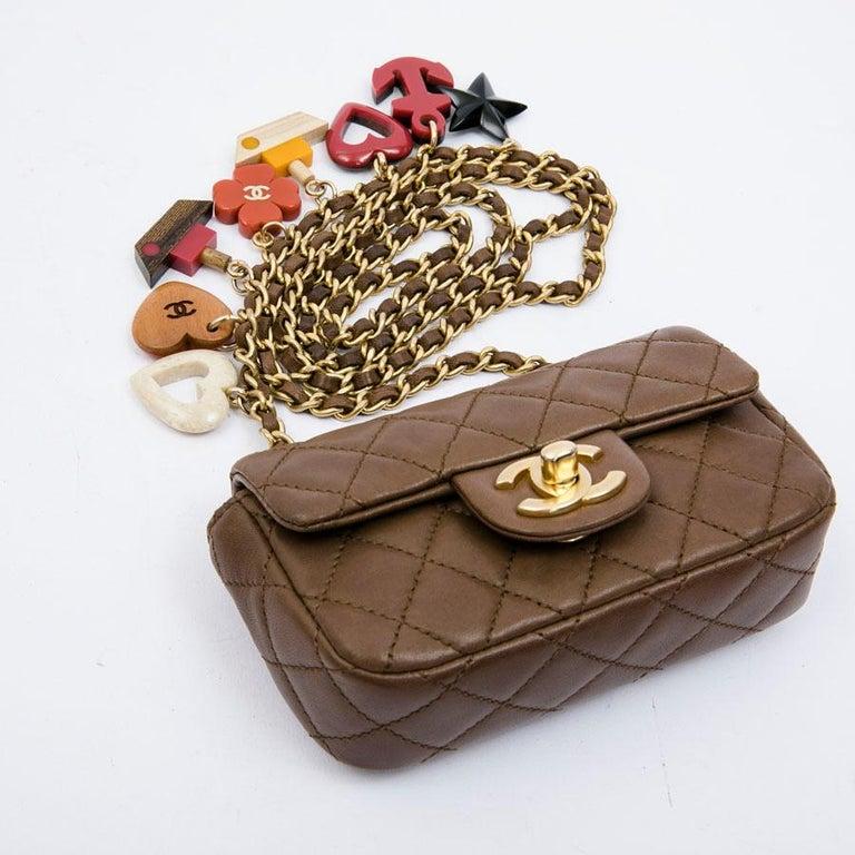 CHANEL Mini Bag in Light Brown Lamb Leather 4