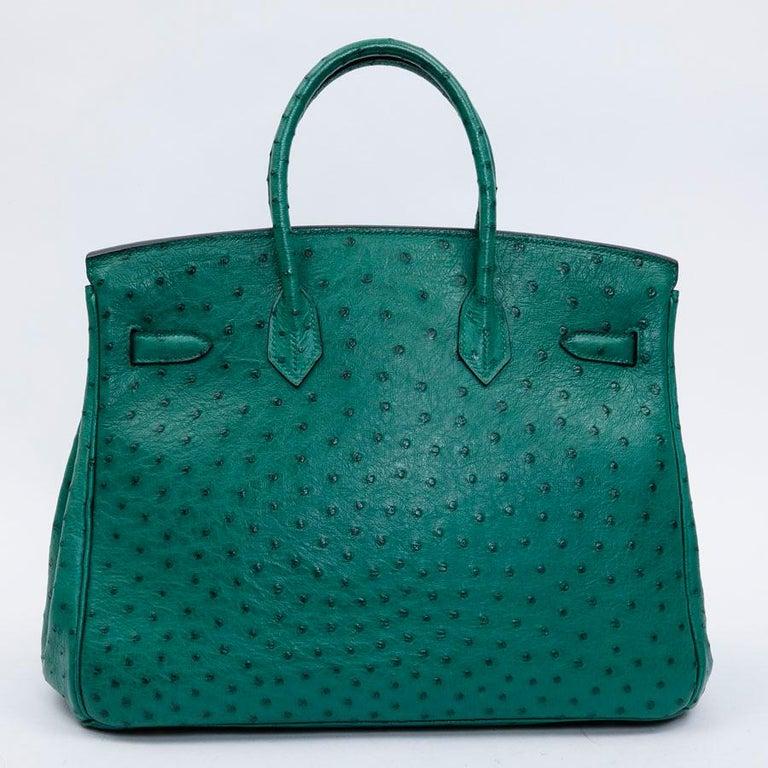 63c4b1bf99 HERMES Birkin 35 Bag in Vertigo Green Ostrich Leather at 1stdibs