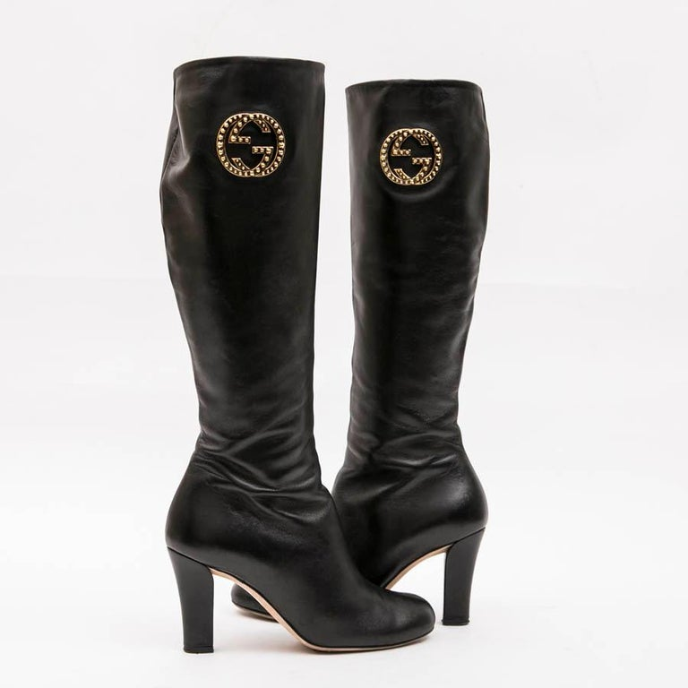 8cced2abf GUCCI Boots in Black Supple Lamb Leather Size 36.5FR For Sale at 1stdibs