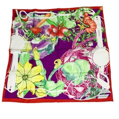 CHRISTIAN DIOR Scarf 'Le potager de Monsieur Dior in Multicolored silk