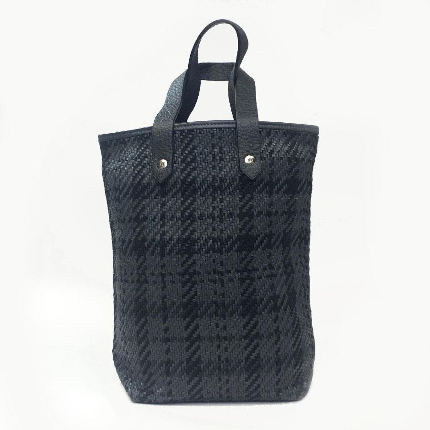 09e25d557c Hermes Small Bag In Black And Charcoal Fabric Leather. A ...