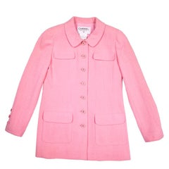 CHANEL Jacket in Pink Wool Tweed Size 38FR