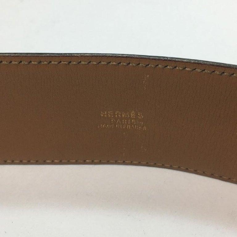Hermes Collier de Chien Vintage Belt in Black Box Leather For Sale 3