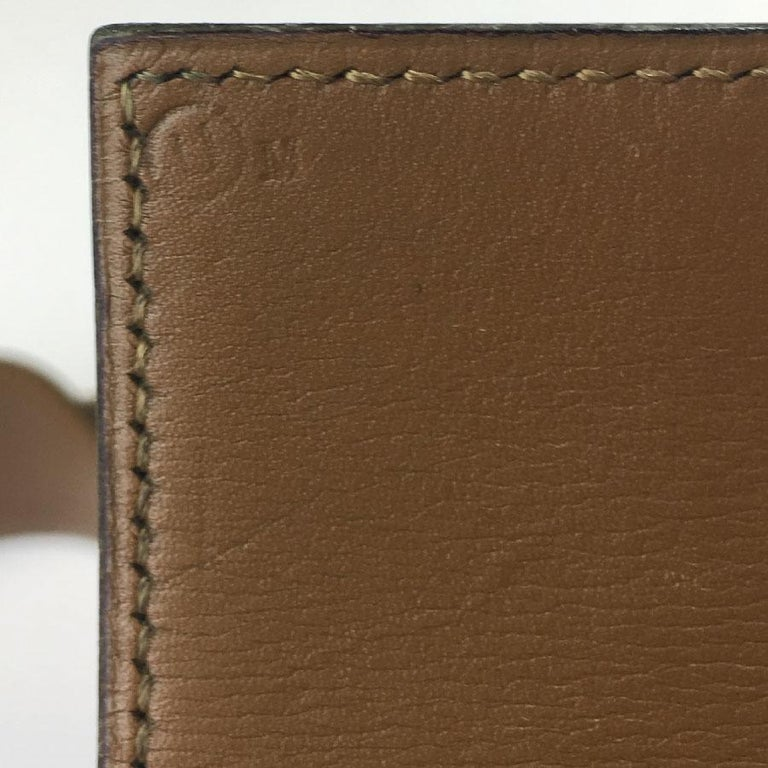 Hermes Collier de Chien Vintage Belt in Black Box Leather For Sale 5