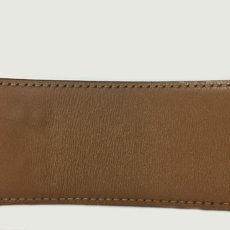 Hermes Collier de Chien Vintage Belt in Black Box Leather For Sale 7