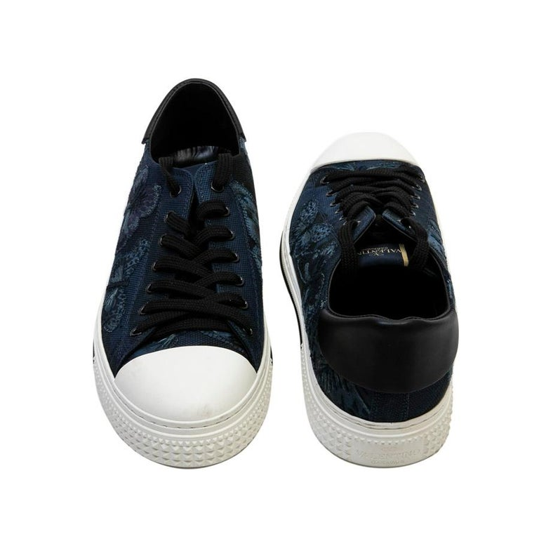 VALENTINO Tennis For Men in Navy Blue Canvas Size 44