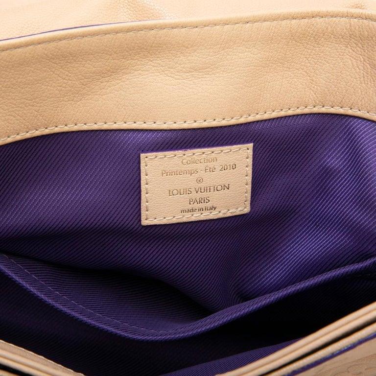 Louis Vuitton Beige Monogram Empreinte Calf Leather Collector Flap Bag For Sale 10