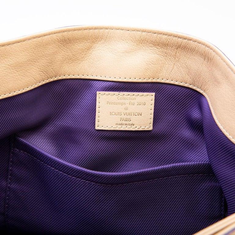 Louis Vuitton Beige Monogram Empreinte Calf Leather Collector Flap Bag For Sale 12