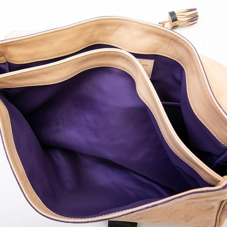 Louis Vuitton Beige Monogram Empreinte Calf Leather Collector Flap Bag For Sale 13