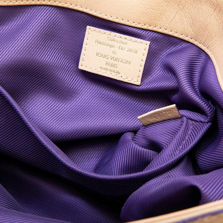 Louis Vuitton Beige Monogram Empreinte Calf Leather Collector Flap Bag For Sale 14