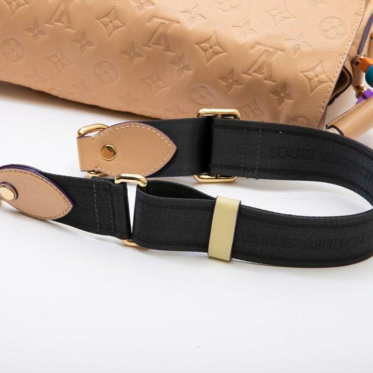 Louis Vuitton Beige Monogram Empreinte Calf Leather Collector Flap Bag For Sale 8