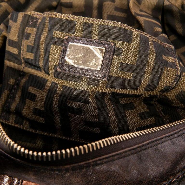 c7cbd7267d3e Fendi Mini Light and Dark Brown Leather Spy Bag For Sale at 1stdibs