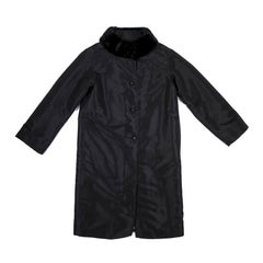 Fendi Black Trench Coat Lined with Removable Fur