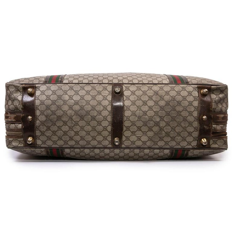 fbeba65d4ec7f5 GUCCI Vintage Soft Suitcase in Brown Monogram Coated Canvas For Sale ...