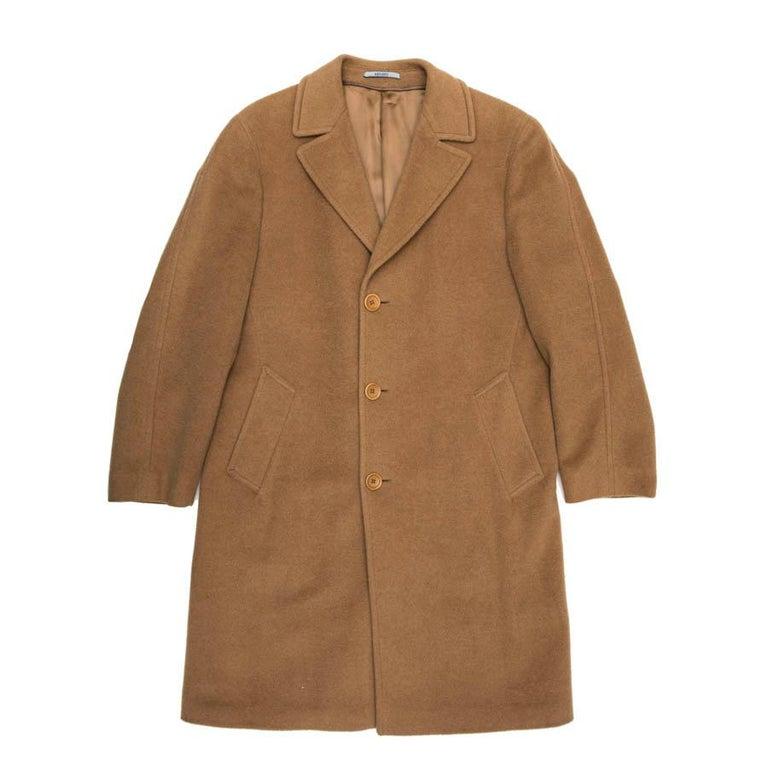 KENZO Coat in Camel Hair Size 50