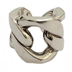 HERMES Band Ring 'Capture' Model in Silver Ag925 Size 52