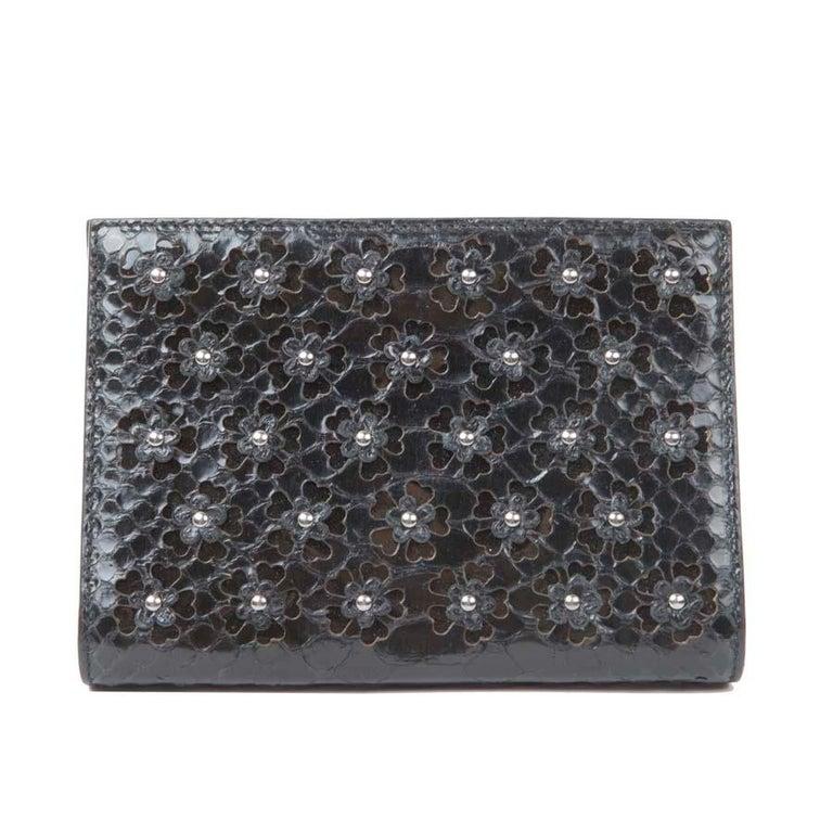 Women's ALAÏA Clutch in Black Python For Sale