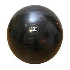 CHANEL Pilates Ball in Black Plastic