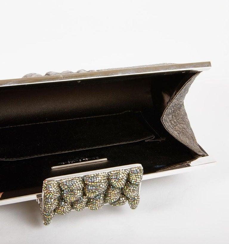 DANIEL SWAROVSKI Evening Clutch in Crocodile and Crystal mesh For Sale 5