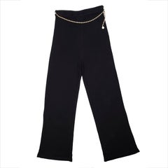 CHANEL Pants in Black Viscose Size 44FR