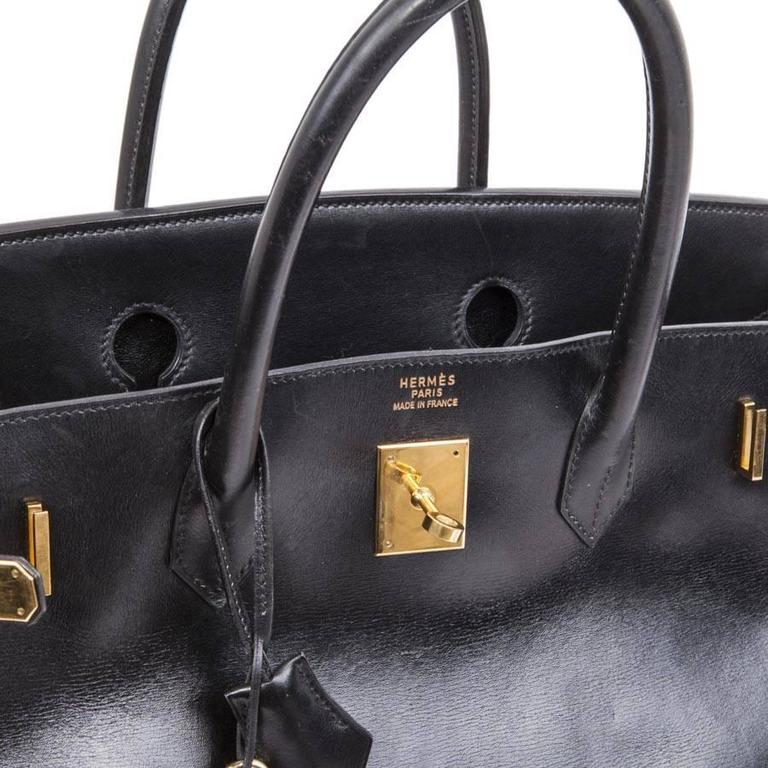 Hermès 40cm Birkin Black Box Leather  For Sale 2