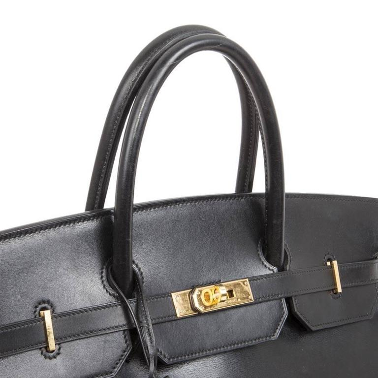 Hermès 40cm Birkin Black Box Leather  For Sale 4