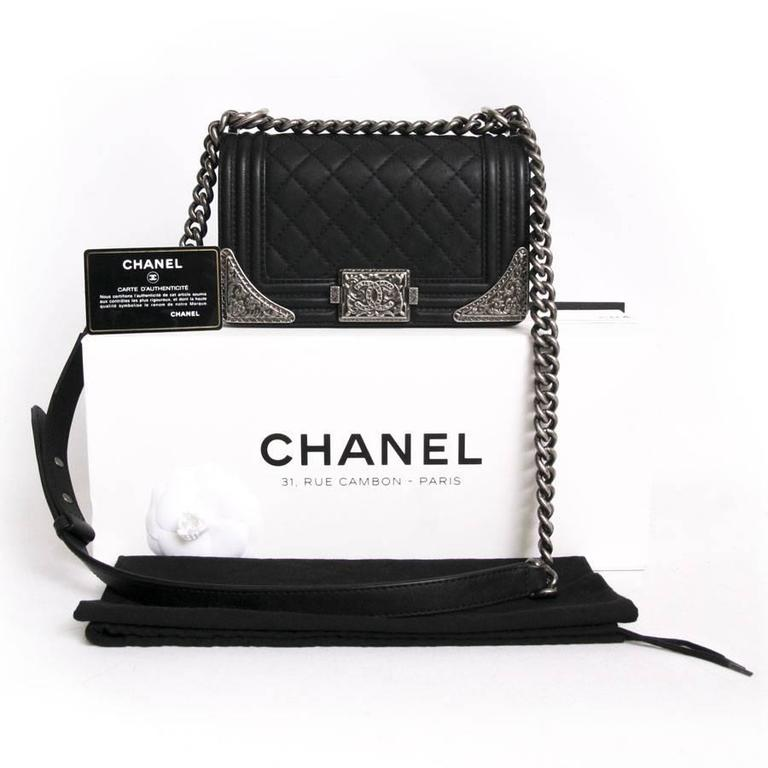 Chanel 'Paris Dallas' Boy Flap Bag in Black Quilted Leather 2