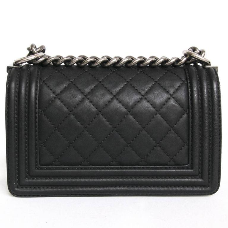 Chanel 'Paris Dallas' Boy Flap Bag in Black Quilted Leather 3