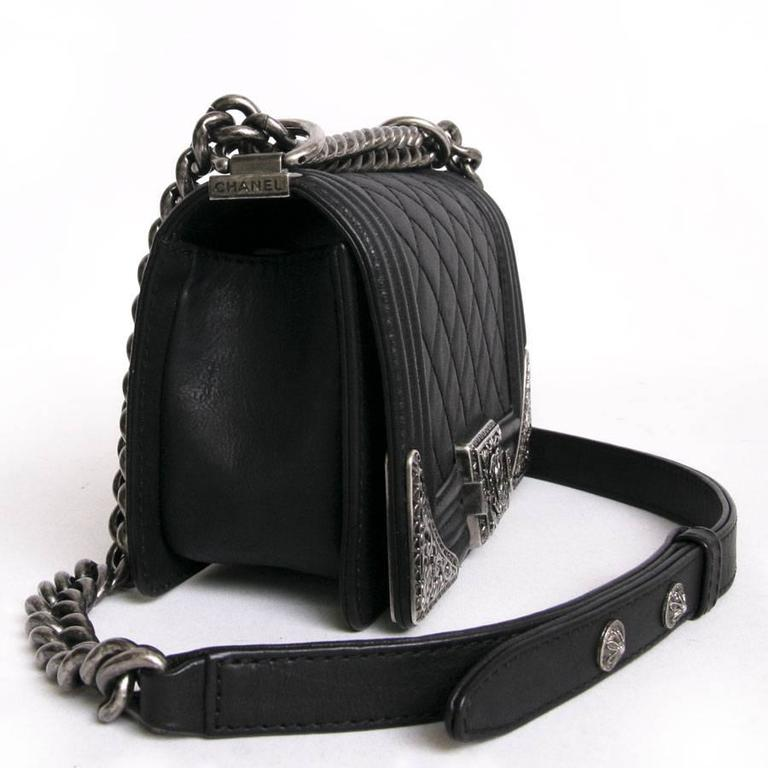 Chanel 'Paris Dallas' Boy Flap Bag in Black Quilted Leather 5