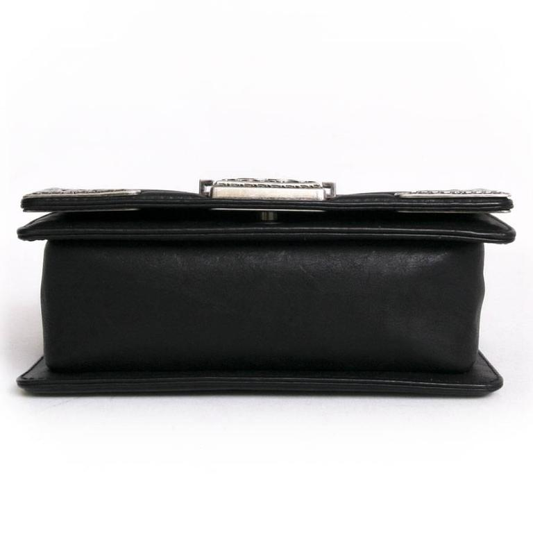 Chanel 'Paris Dallas' Boy Flap Bag in Black Quilted Leather 6