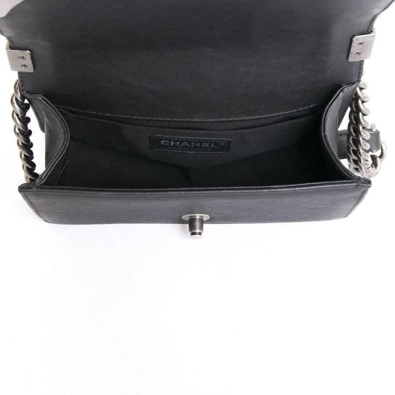 Chanel 'Paris Dallas' Boy Flap Bag in Black Quilted Leather 7